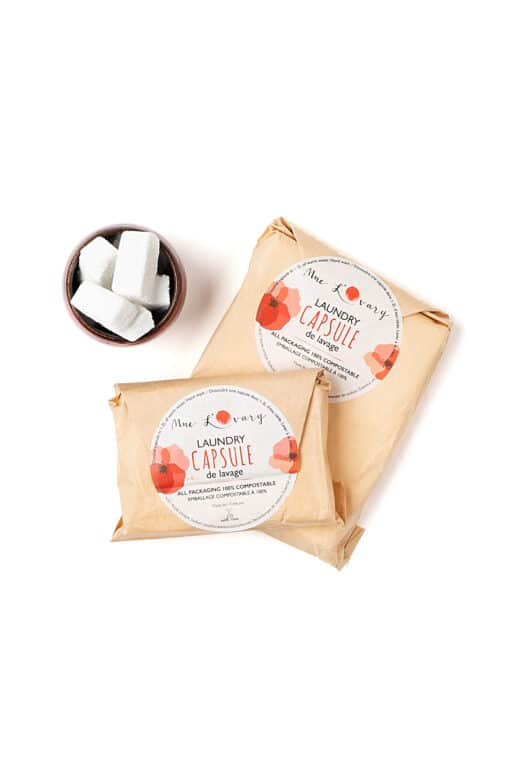 white Mme L'Ovary laundry capsules