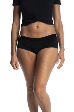 Shorty period underwear L'Ovary black